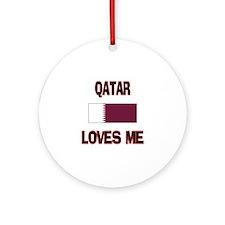 Qatar Loves Me Ornament (Round)