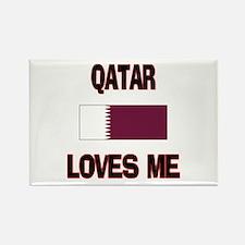 Qatar Loves Me Rectangle Magnet