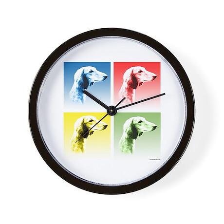 Saluki Pop Wall Clock