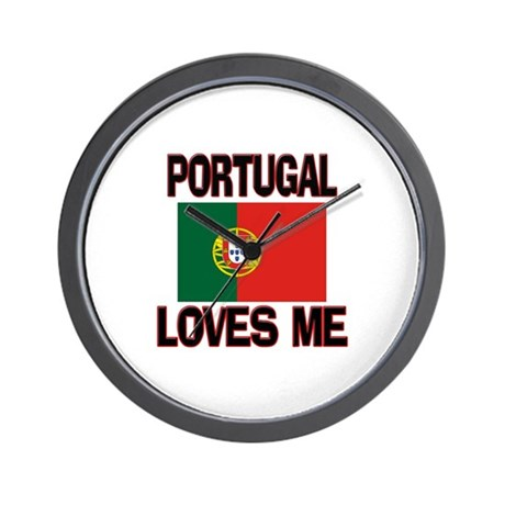 Portugal Loves Me Wall Clock