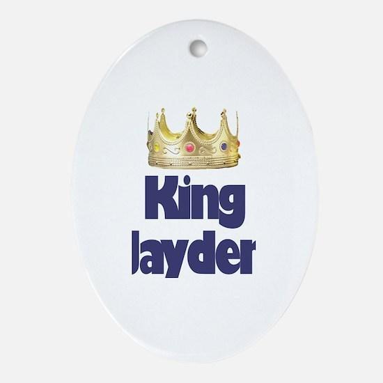King Jayden Oval Ornament