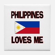 Philippines Loves Me Tile Coaster