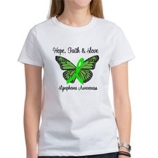 Lymphoma Hope Butterfly Tee