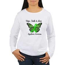 Lymphoma Hope Butterfly T-Shirt