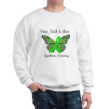 Lymphoma Hope Butterfly Sweatshirt