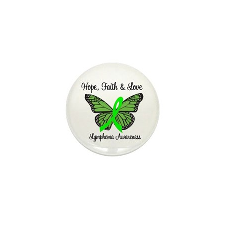 Lymphoma Hope Butterfly Mini Button
