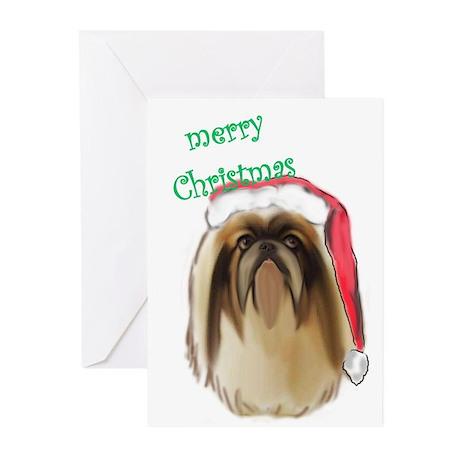 Christmas Peke Greeting Cards (Pk of 10)