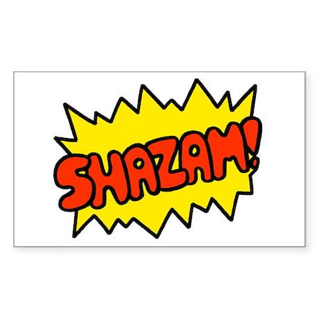 'Shazam!' Rectangle Sticker