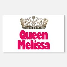 Queen Melissa Rectangle Decal