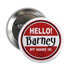 """Hello my name is Barney 2.25"""" Button"""