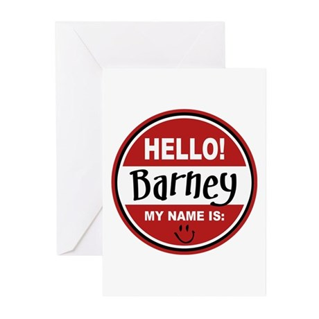 Hello my name is Barney Greeting Cards (Pk of 10)
