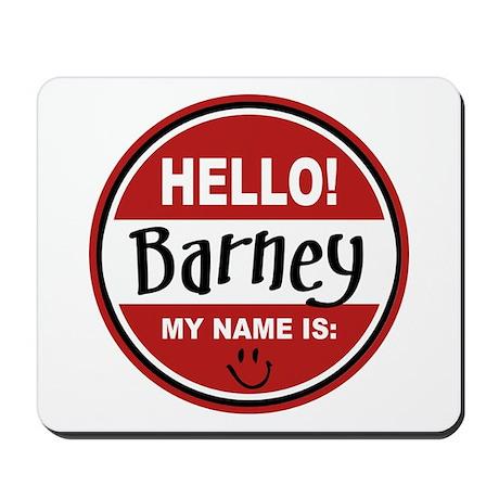Hello my name is Barney Mousepad