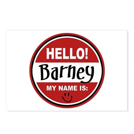 Hello my name is Barney Postcards (Package of 8)