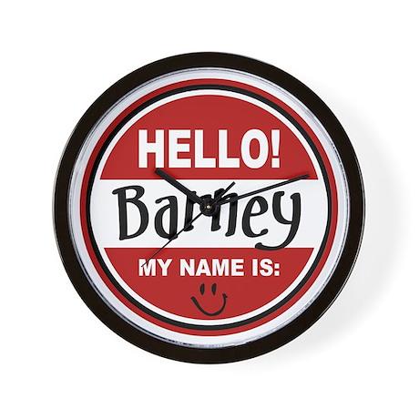 Hello my name is Barney Wall Clock
