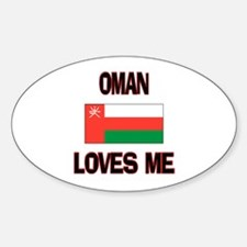 Oman Loves Me Oval Decal