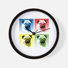 Pug Pop Wall Clock