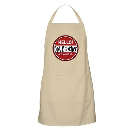 Hello My Name Is Big Brother BBQ Apron