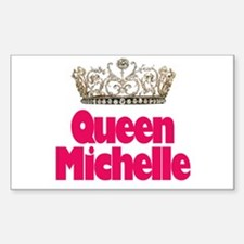 Queen Michelle Rectangle Decal