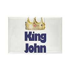 King John Rectangle Magnet