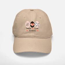 Peace Love Poodle Baseball Baseball Cap