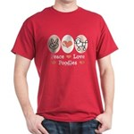 Peace Love Poodle Dark T-Shirt
