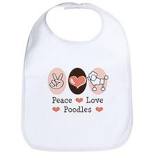 Peace Love Poodle Bib