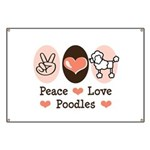 Peace Love Poodle Banner
