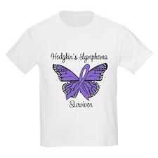 Hodgkin's Survivor Butterfly T-Shirt