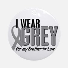 I Wear Grey For My Brother-In-Law 10 Ornament (Rou