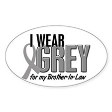 I Wear Grey For My Brother-In-Law 10 Decal