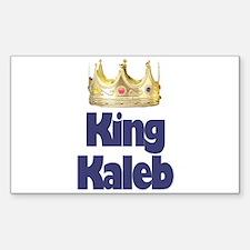 King Kaleb Rectangle Decal
