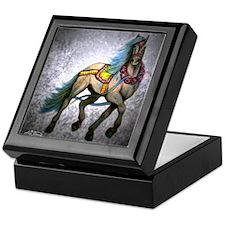 Gray Prancer carousel horse Keepsake Box