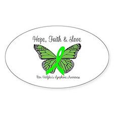 Non-Hodgkin's Hope Oval Sticker (10 pk)