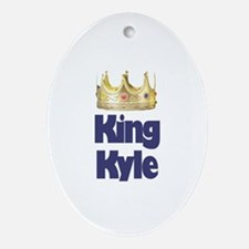 King Kyle Oval Ornament