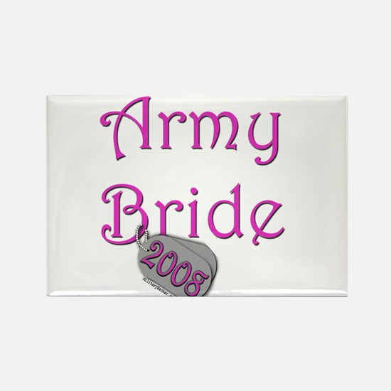 Army Bride (Tags) 2008 Rectangle Magnet