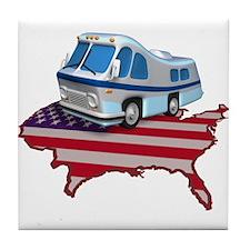 RV Across America Tile Coaster
