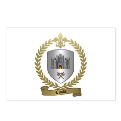 CLAUDE Family Crest Postcards (Package of 8)