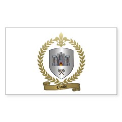 CLAUDE Family Crest Rectangle Decal
