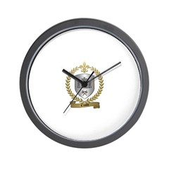 CLAUDE Family Crest Wall Clock