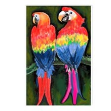 Unique Parrot Postcards (Package of 8)