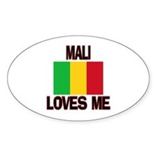 Mali Loves Me Oval Decal