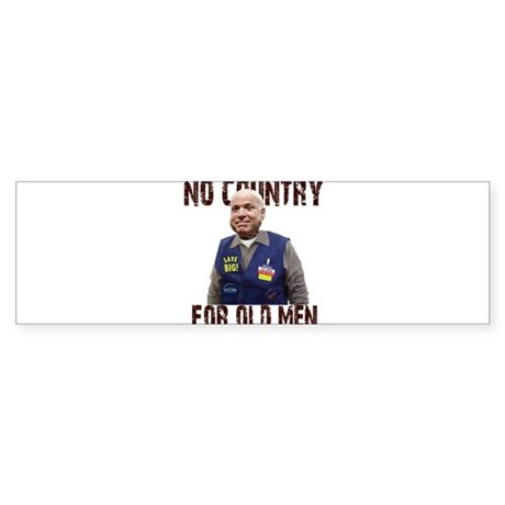 No Country For Old Men Bumper Sticker