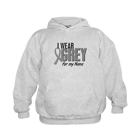 I Wear Grey For My Nana 10 Kids Hoodie