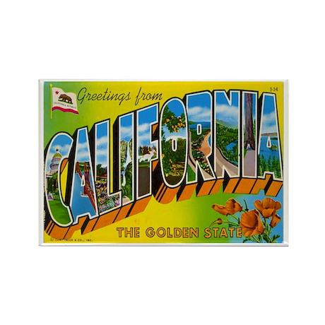 California CA Rectangle Magnet (10 pack)