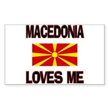 Macedonia Loves Me Rectangle Decal