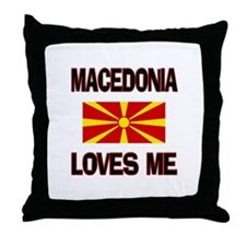 Macedonia Loves Me Throw Pillow