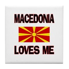 Macedonia Loves Me Tile Coaster