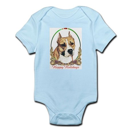 American Staffordshire Holiday Infant Creeper