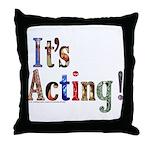 Graduating Actor Throw Pillow