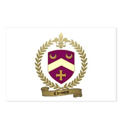 CLERMONT Family Crest Postcards (Package of 8)